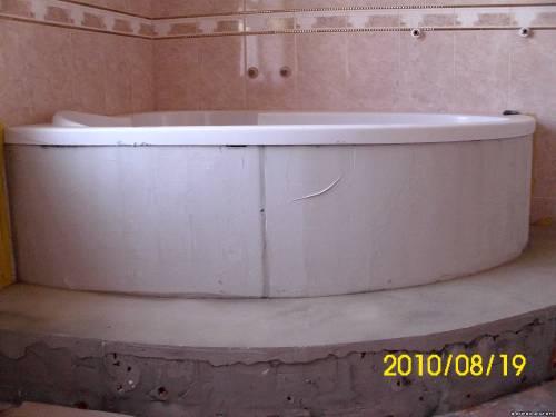Пьедестал для ванной своими руками